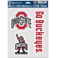 Ohio State Buckeyes 3 Fan Pack Decals