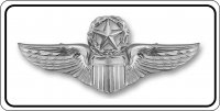 Air Force Command Pilot Chrome Insignia Photo License Plate