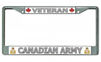 Veteran Canadian Army Chrome License Plate Frame