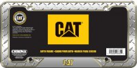 Caterpillar Diamond Plate License Plate Frame
