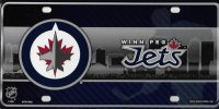 Winnipeg Jets Metal License Plate