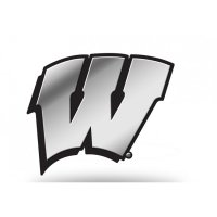 Wisconsin Badgers Chrome Auto Emblem