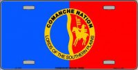 Comanche Nation Flag Metal License Plate