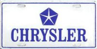 Chrysler License Plate