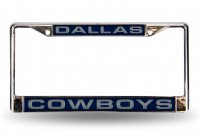 Dallas Cowboys Laser Chrome License Plate Frame