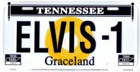 Elvis Presley #3 Metal License Plate