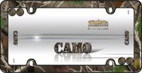 Camouflage Plastic License Plate Frame
