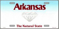 Arkansas State Background Metal License Plate