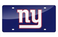 New York Giants Blue Laser License Plate