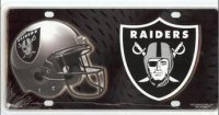 Oakland Raiders Metal License Plate