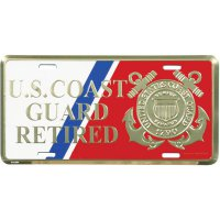 U.S. Coast Guard Retired With Logo License Plate