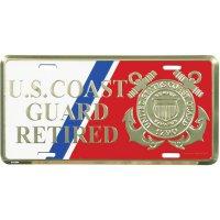 U.S Coast Guard Retired Aviator Photo License Plate Frame License Plates Online