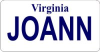 Design It Yourself Virginia State Look-Alike Bicycle Plate
