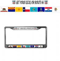 Get Your Kicks On Route 66 Photo License Frame