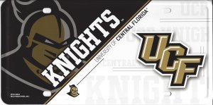 University Of Central Florida Knights Metal License Plate