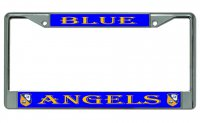 Blue Angels Chrome License Plate Frame