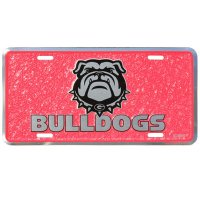 Georgia Bulldogs Mosaic Metal License Plate