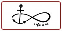 Anchor With Infinity Symbol I Refuse To Sink Photo License Plate