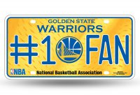 Golden State Warriors #1 Fan Metal License Plate