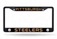 Pittsburgh Steelers Black Metal License Plate Frame