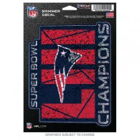 New England Patriots Super Bowl Champs Shimmer Vinyl Decal
