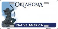 Oklahoma Native America Metal License Plate