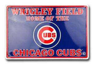 Chicago Cubs Wrigley Field Metal Parking Sign