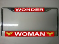 Wonder Woman Photo License Plate Frame