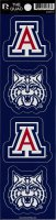 Arizona Wildcats Quad Decal Set