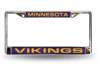 Minnesota Vikings Laser Chrome License Plate Frame