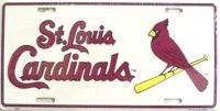 St. Louis Cardinals (White) License Plate
