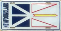 Newfoundland Flag License Plate