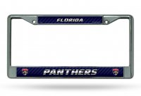 Florida Panthers Chrome License Plate Frame