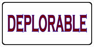 Deplorable Photo License Plate