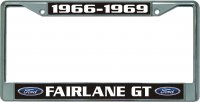 Ford Fairlane GT Chrome License Plate Frame
