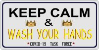 Keep Calm And Wash Your Hands Photo License Plate