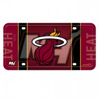 Miami Heat Metal License Plate