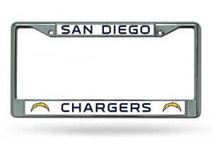 San Diego Chargers Chrome License Plate Frame