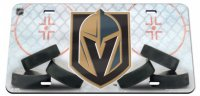 Vegas Golden Knights Crystal Mirror Laser License Plate