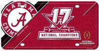 Alabama Crimson Tide 2018 National Champs Metal License Plate