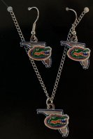 Florida Gators Earrings And Pendant Set