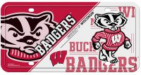 Wisconsin Badgers Metal License Plate