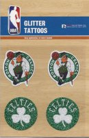 Boston Celtics Glitter Tattoo Set