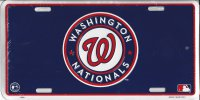 Washington Nationals Metal License Plate