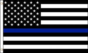 USA Thin Blue Line Polyester Flag