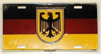 Germany Flag with Eagle License Plate