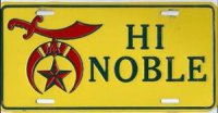 HI Noble License Plate