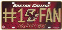 Boston College Eagles #1 Fan License Plate