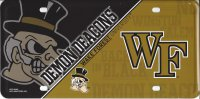 Wake Forest Demon Deacons Metal License Plate