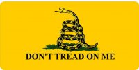 Don't Tread On Me Photo License Plate